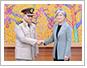 강경화 외교장관, 이집트 국방장관 접견