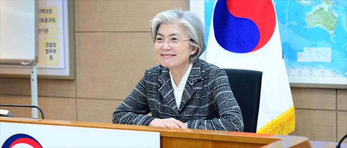 강경화 장관, 여성외교장관 화상회의 참석