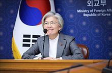 강경화 장관, '다보스 어젠다<br>주간 고위급 회의' 참석