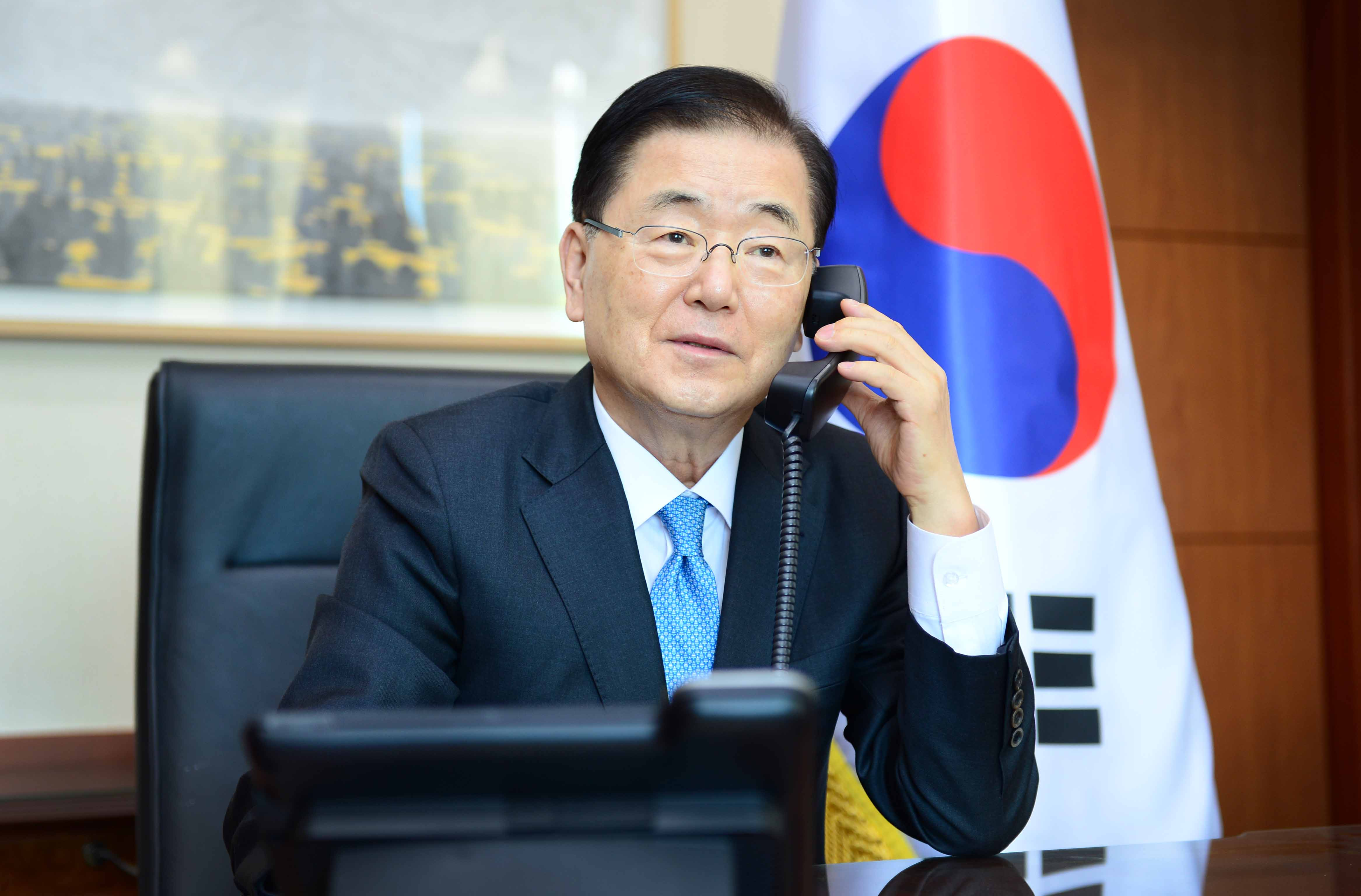 Telephone Conversation between Ministers of Korea and China