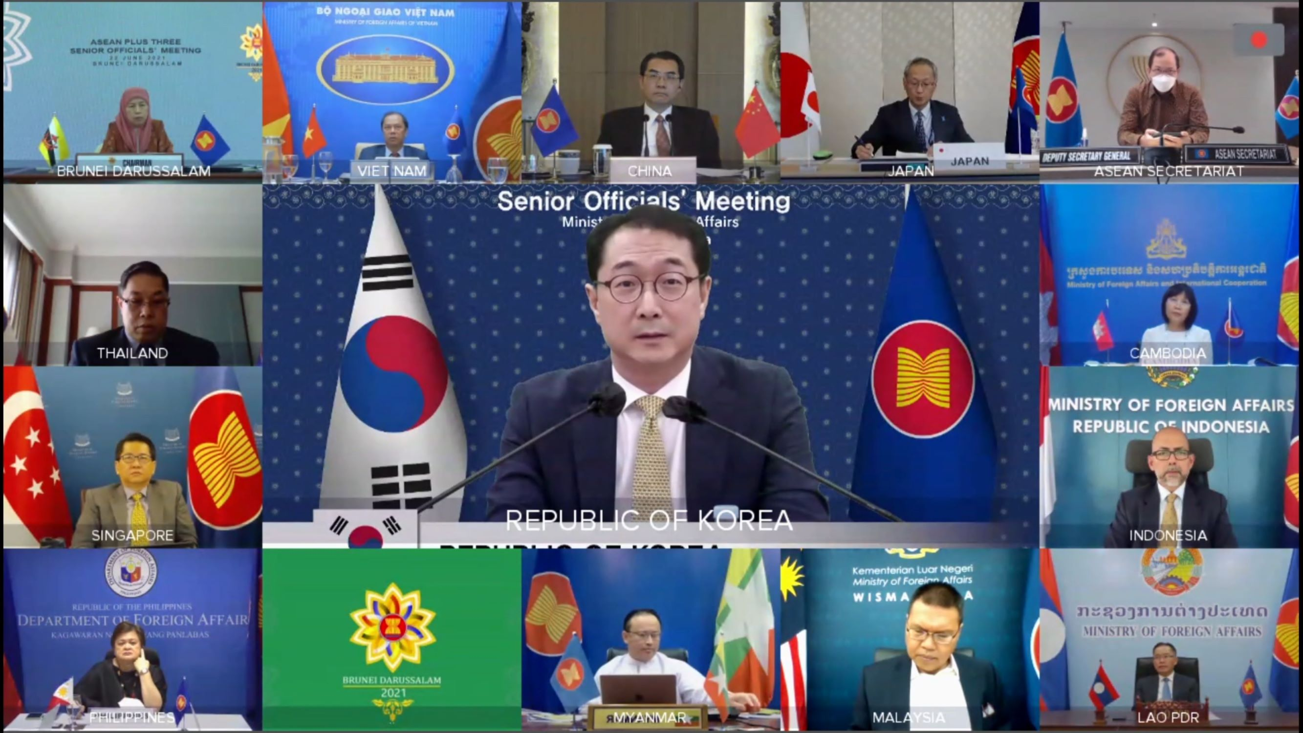 ASEAN, Korea, China and Japan Discuss Ways to Enhance Public Health Cooperation and to Achieve Economic Recovery