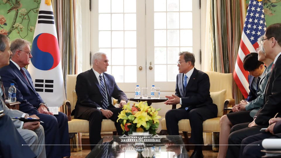 The President Meets with U.S. Vice President Mike Pence