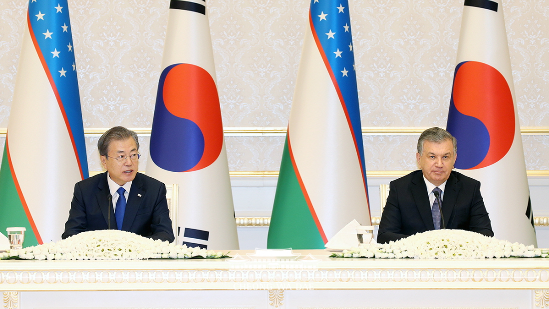 Remarks by President Moon Jae-in at Joint Press Conference Following Korea-Uzbekistan Summit