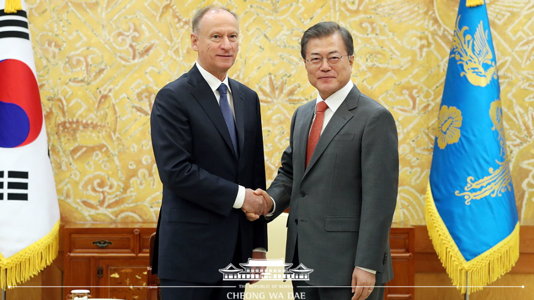 The President Meets with Secretary of the Russian Security Council Nikolai Patrushev