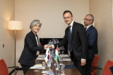 Minister of Foreign Affairs Meets with Minister of Foreign Affairs and Trade of Hungary