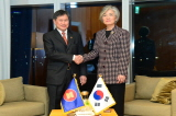 Minister of Foreign Affairs Meets with Secretary-General of ASEAN