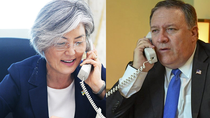 Phone Conversation between ROK Foreign Minister and U.S. Secretary of State