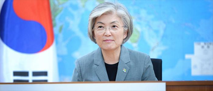 강경화 장관, 코로나19 대응 외교장관 화상회의 참석